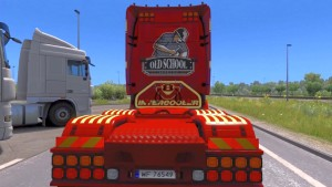 Scania RJL Red Poison skin mod
