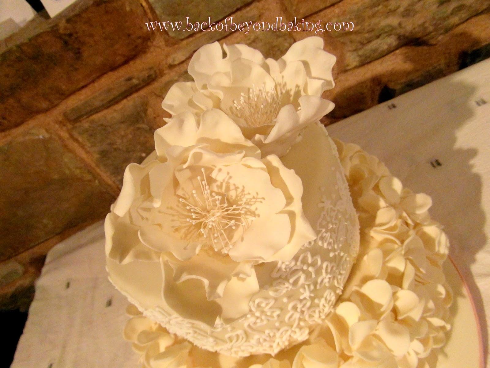 Christening cake flowers