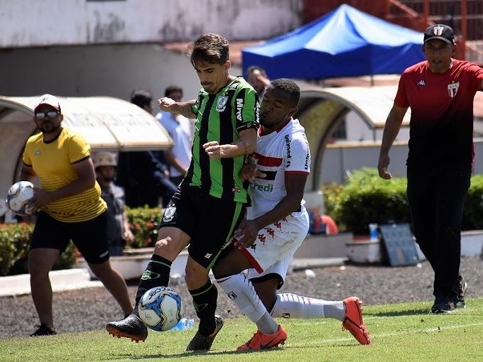 Fora de casa, América empata com Botafogo-SP