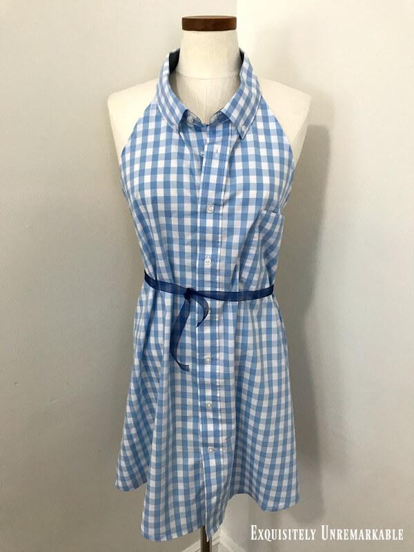 Men's Dress Shirt Apron DIY