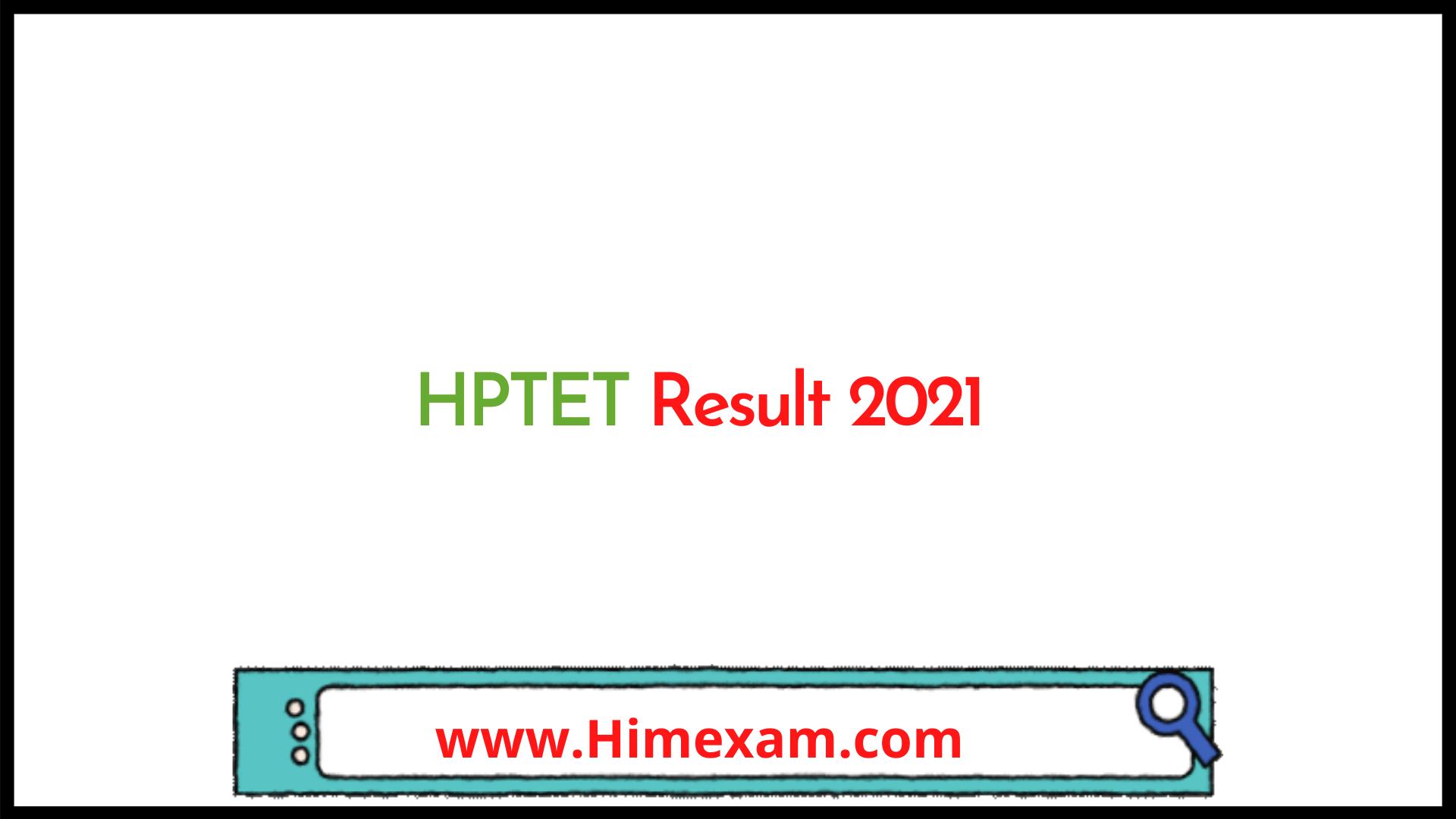 HPTET Result 2021