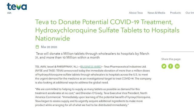 Tin mừng cho thế giới: Công ty ở Hoa Kỳ cung cấp thuốc chống Virus Corona miễn phí