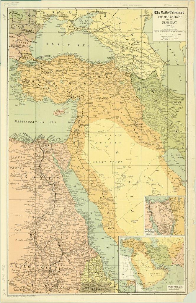 Ortadoğu ve Osmanlı Haritası 1918