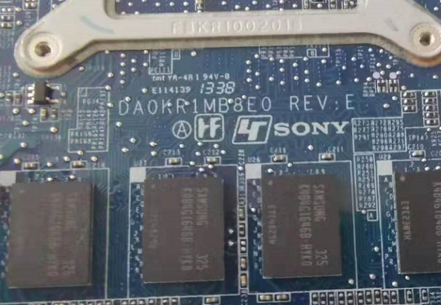 DA0KR1MB8E0 REV E U9 SONY SVT112A2WW Laptop Bios
