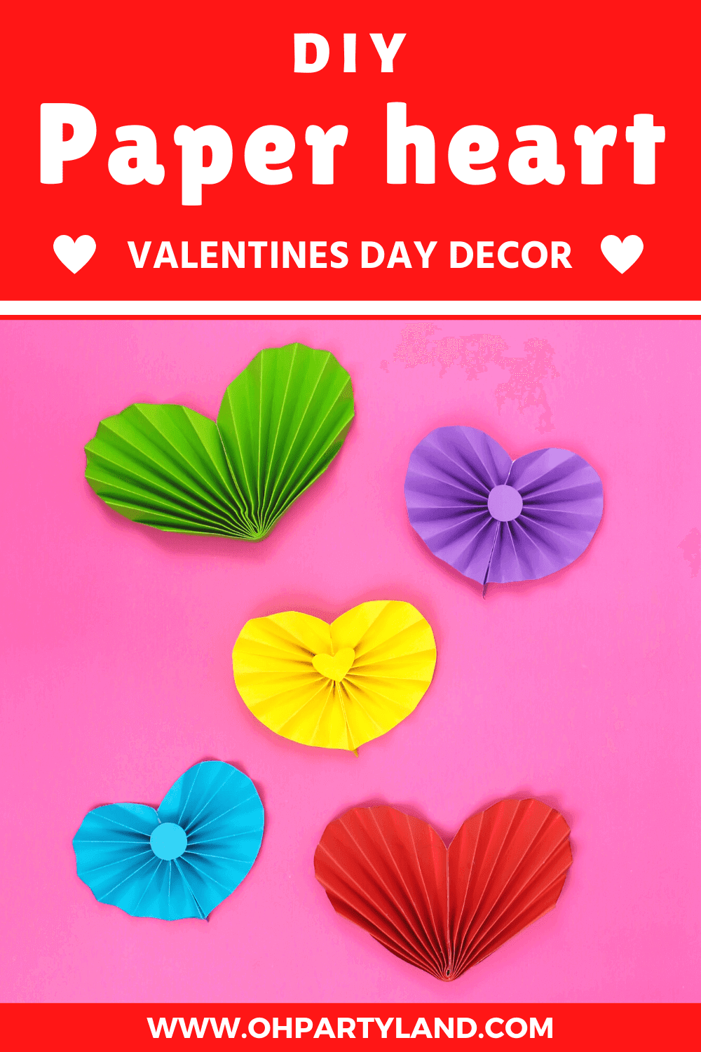diy paper heart valentines day