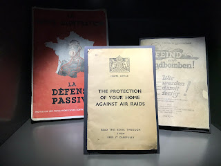 three books on display in the gdansk ww2 museum