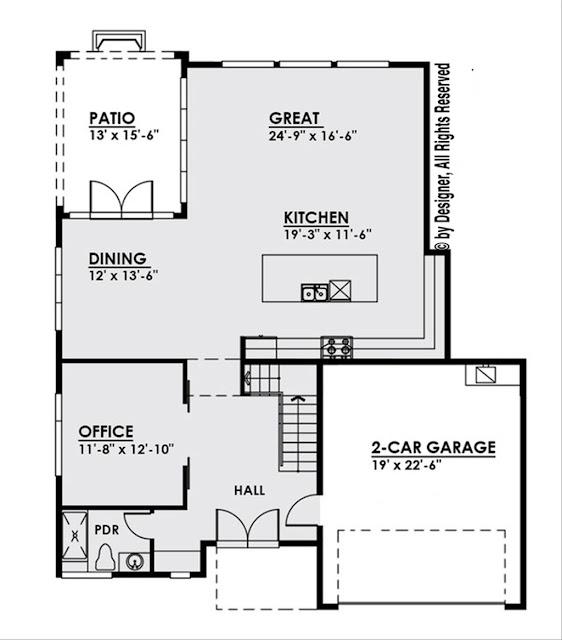 แปลนบ้าน 4 ห้องนอนชั้น 1