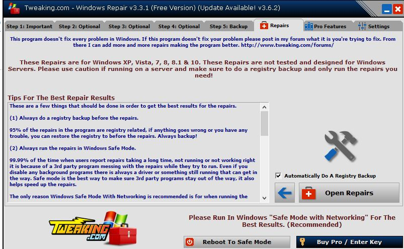 Repair Windows updates using Windows repair Tool - Your