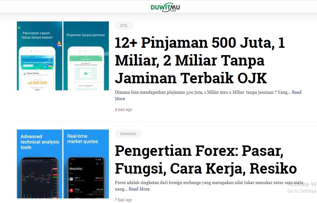 """Blog Finansial """"Duwitmu.com"""""""