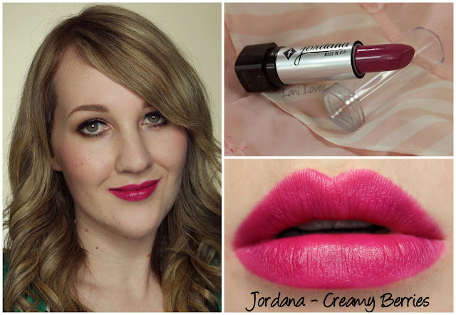 Jordana Creamy Berries lipstick swatch