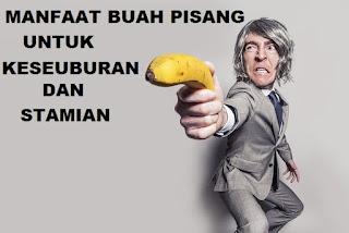 Nutrisi yang bermanfaat bagi tubuh terutama bagi laki-laki karena vitamin dalam pisang dapat menigkatkan kesuburan pada pria dan juga meningkatkan stamian