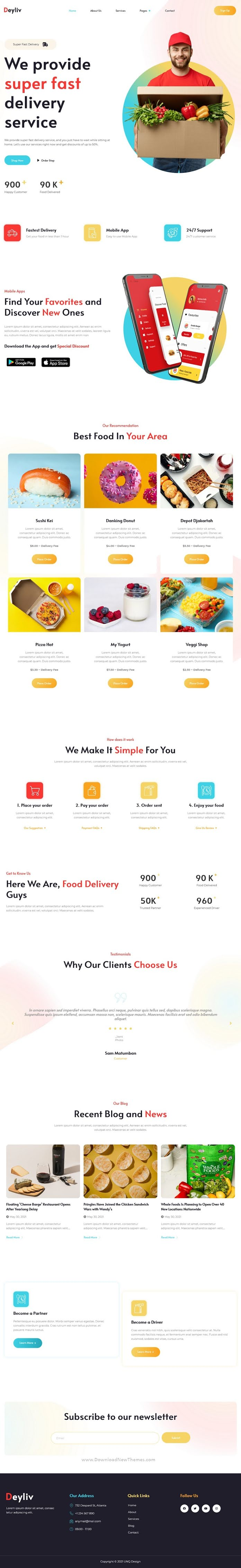 Food Delivery App Elementor Template Kit