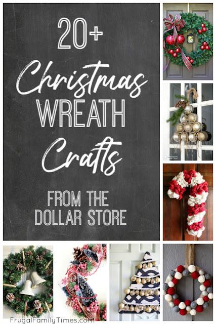 diy dollar store christmas wreaths