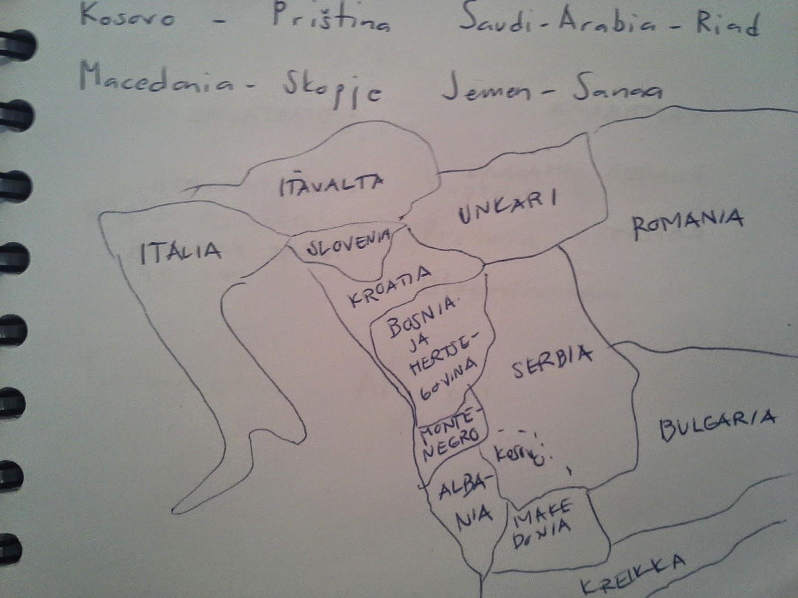 maailman valtiot ja pääkaupungit