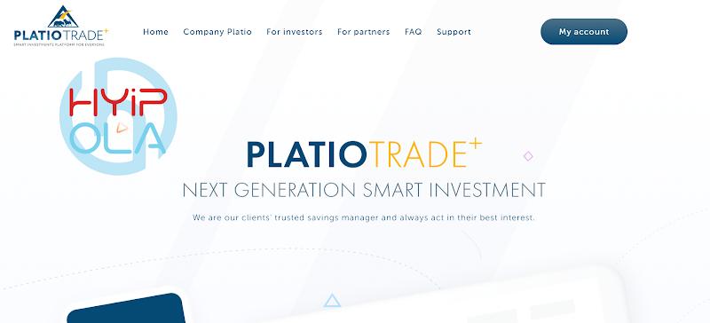 [SCAM] Review PlatioTrade - Dự án dài hạn cho cuối năm 2020 - Lãi từ 0.82% hằng ngày
