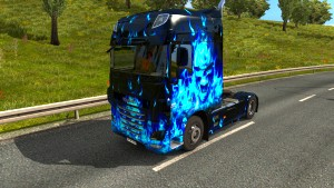 Blue Skull skin for DAF Euro 6