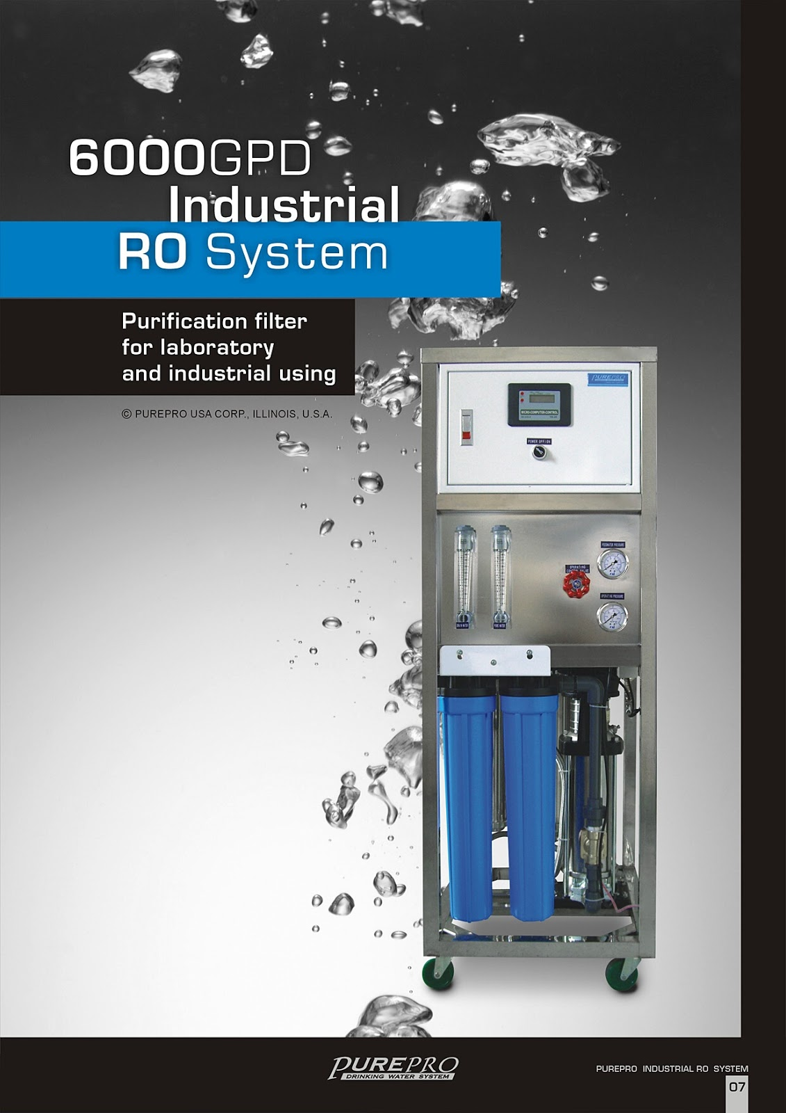 PurePro® RO6000 Industrial Reverse Osmosis Water Filter System -Manufacturer