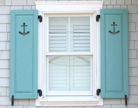 Decorative Coastal Window Shutters for Curb Appeal ...