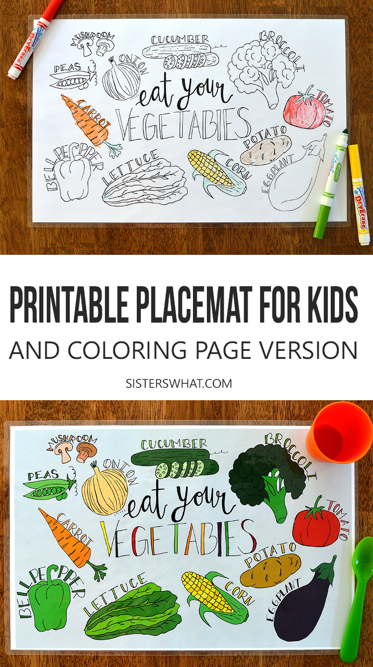 These fun coloring page printable placemats are perfect kids at dinner time and can be laminated!