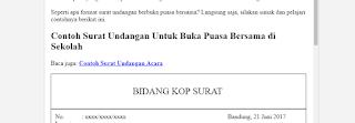 Contoh Surat Undangan Buka Puasa (Formal)