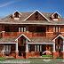 Kerala laterite stone home design 2200 sq-ft