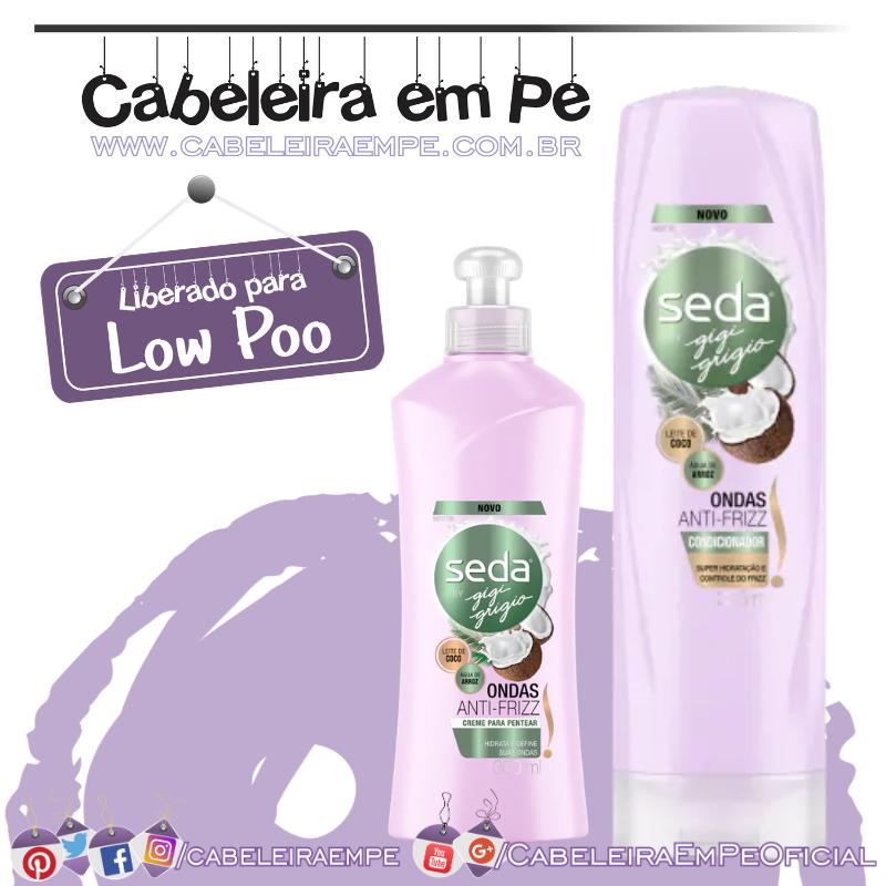 Condicionador e Creme para Pentear Seda Ondas Antifrizz by Gigi Grigio - Seda (Low Poo)