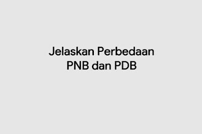 Jelaskan Perbedaan PNB dan PDB