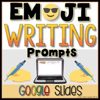 Emojis in the classroom. Digital Emoji writing journal