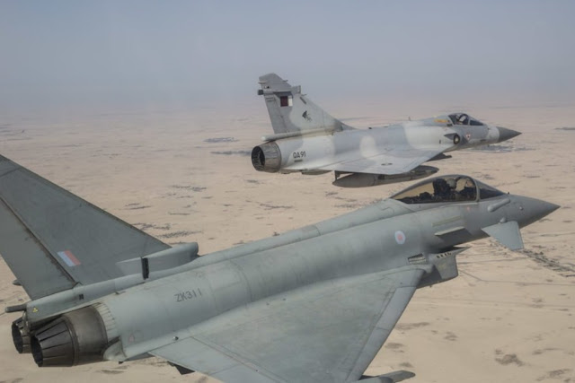 RAF Typhoon training Qatar Aviationist