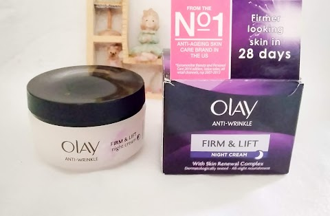 Olay Anti - Wrinkle Firm & Lift Night Cream Yang Patut Dicoba!!;