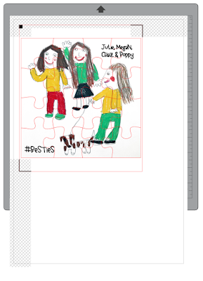 Make a Jigsaw Puzzle from your children's artwork. Designed by Janet Packer (Crafting Quine) for the Silhouette UK Blog.