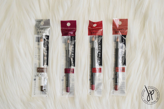 Shiseido eyebrow pencil and lip pencils