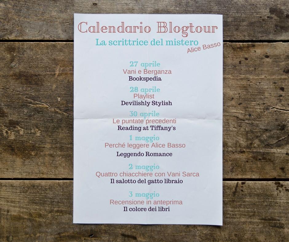 Calendario Blogtour La scrittrice del mistero di Alice Basso