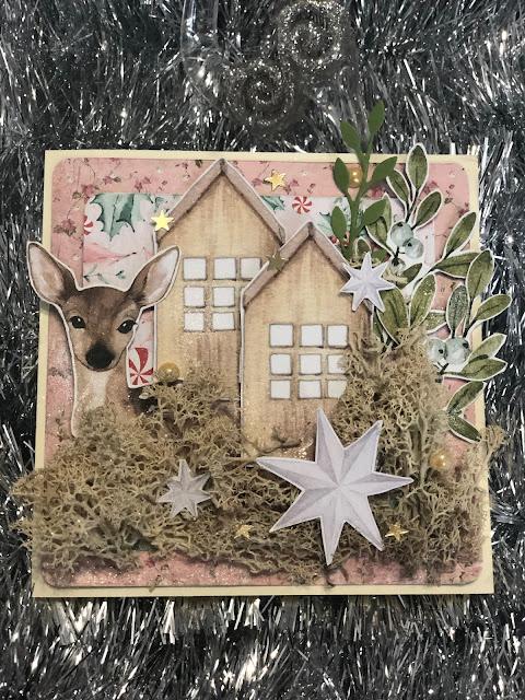 Kartka Bożonarodzeniowa z Mchem