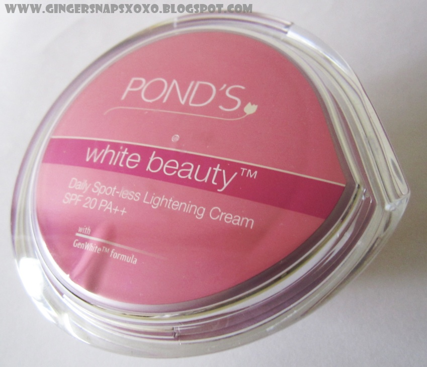 Ponds White Beauty Daily Spot Less Lightening Cream Spf  Pa Review Gingersnaps