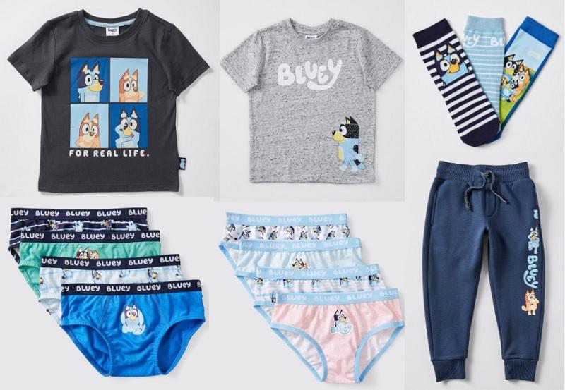 bluey clothing, underwear and socks
