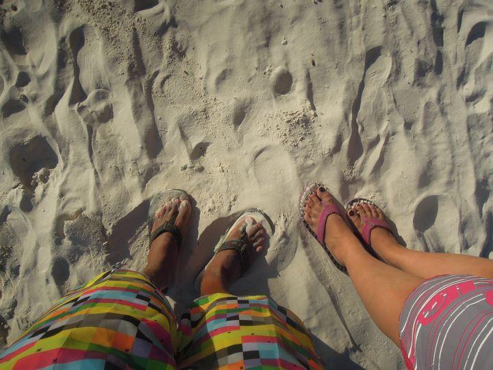 Walking along the beach in Boracay