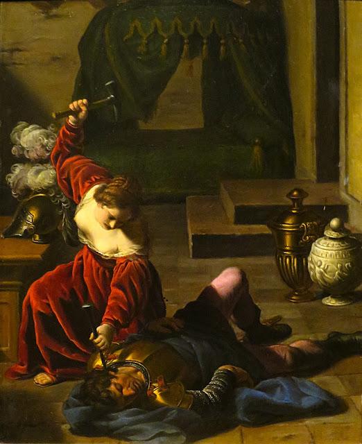 Alessandro Turchi - Giaele e Sisara - arte - sadismo