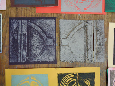 printing the canvas - for upcoming show at Library gallery in Drumheller, AB