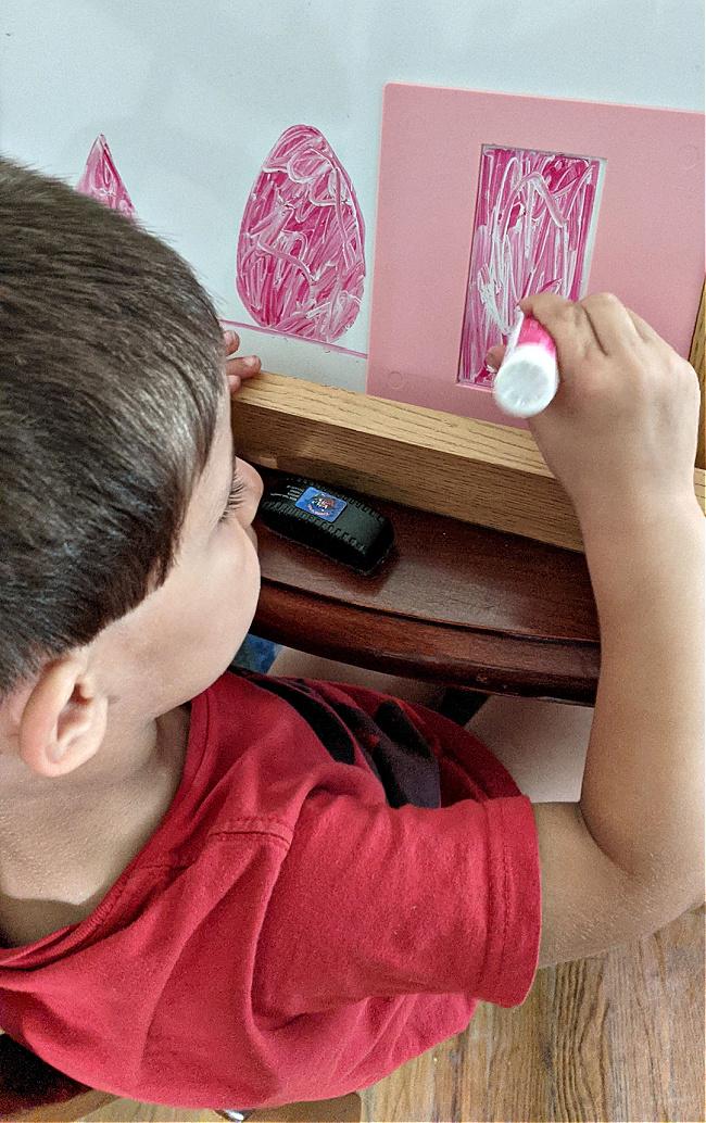 Sonlight Preschool Program shape stencils