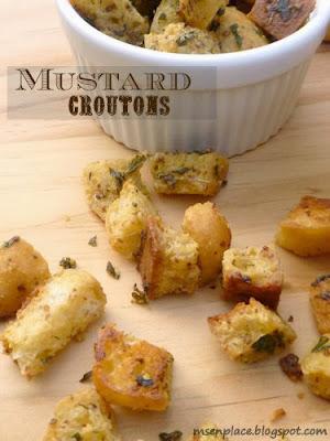Mustard Croutons