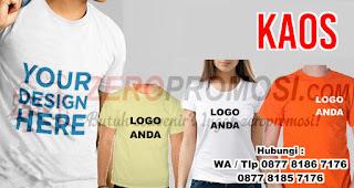 Kaos merupakan salah satu rekomendasi souvenir menarik untuk media promosi