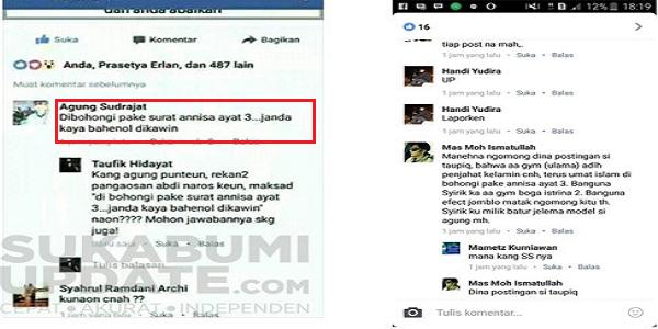 Pemuda Sukabumi Lecehkan Surat Annisa di Facebook Langsung Diciduk, Ahok Sudah Jadi Tersangka Tapi Kok Masih… : kabar Terbaru Hari Ini