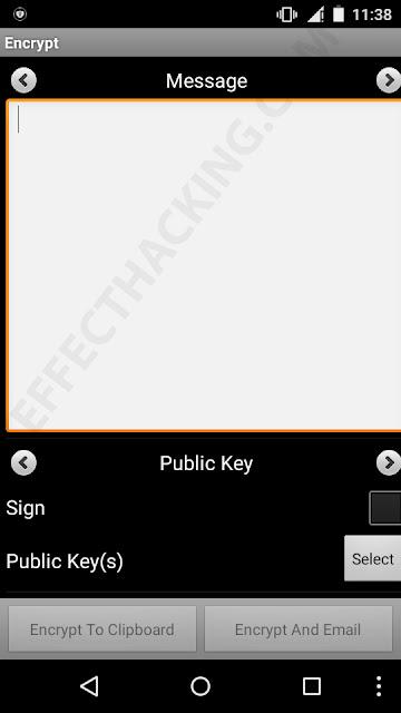 Encrypt Message Screenshot