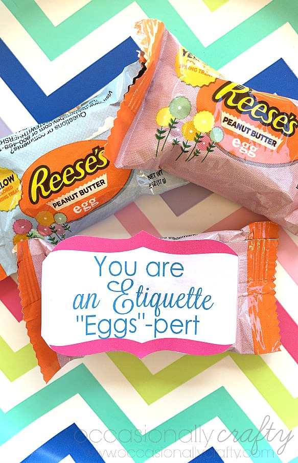 Etiquette Activity for Girl Scouts, Activity Days, Young Women, or any other class or group.  Includes free printable treat tags!