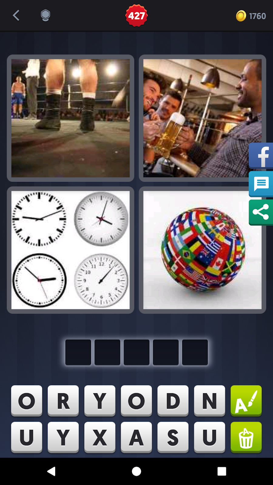4 Pics 1 Word Answers Solutions: LEVEL 427 ROUND