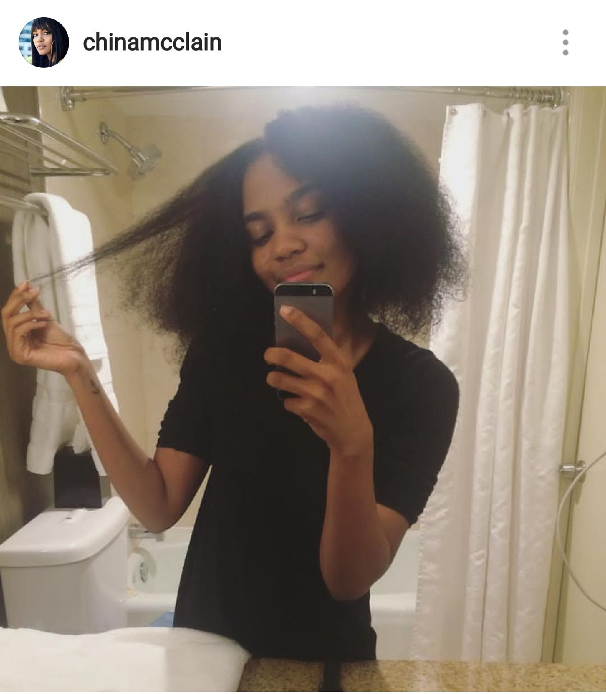 China Anne Mcclain Unveils Her Quot Teeny Curls Quot