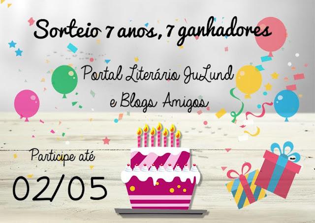 [Sorteio] Aniversário Portal Ju Lund e Blogs Amigos