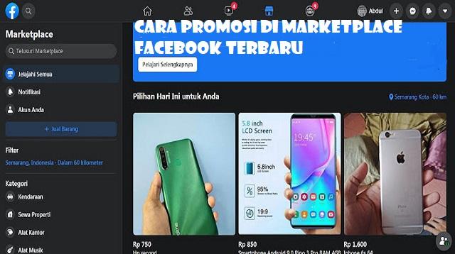 Cara Promosi di Marketplace Facebook