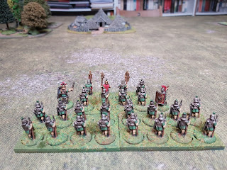The Romans arrive to attack the Gauls